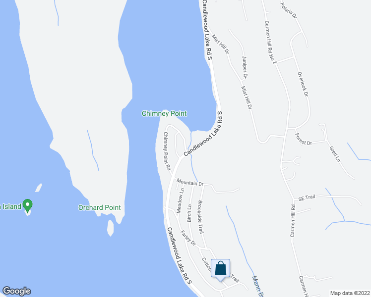 map of restaurants, bars, coffee shops, grocery stores, and more near 6 Chimney Point Road in New Milford