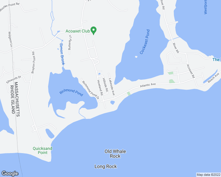 map of restaurants, bars, coffee shops, grocery stores, and more near 20 Lakeside Avenue in Westport