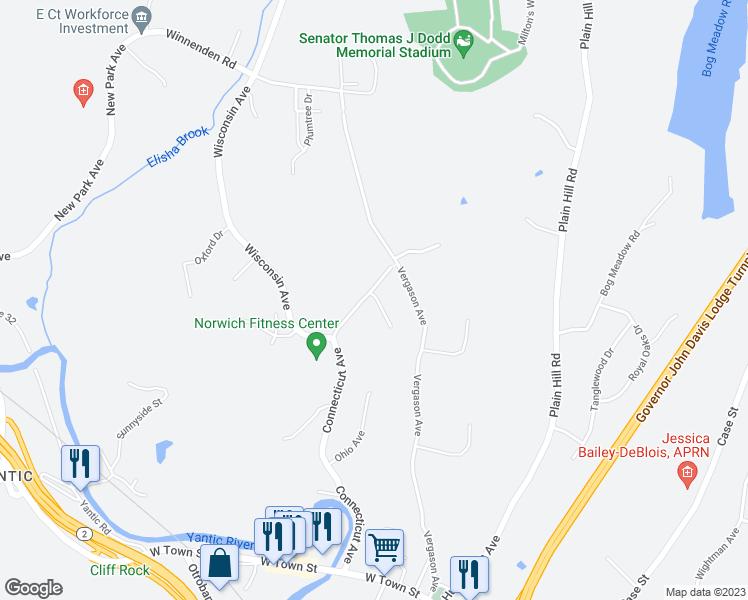 1 Parkwood Drive, Norwich CT - Walk Score