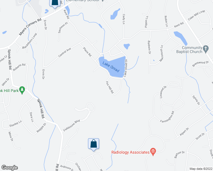 map of restaurants, bars, coffee shops, grocery stores, and more near 8 Fox Hill Road in Wappingers Falls