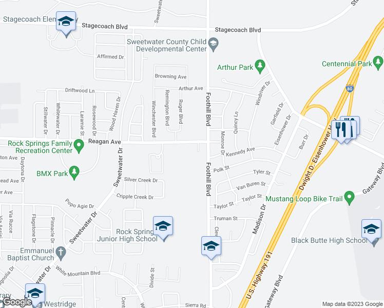 Rock Springs Wyoming Map.2226 Reagan Avenue Rock Springs Wy Walk Score