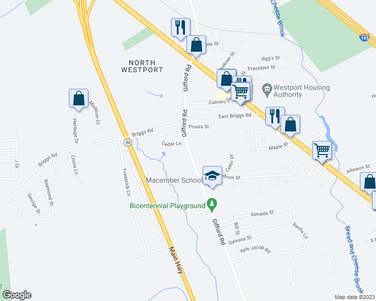 103 Gifford Road Westport Ma Walk Score