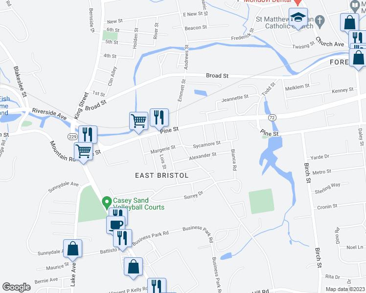 154 Emmett Street, Bristol CT - Walk Score