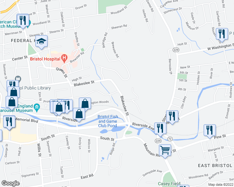 200 Blakeslee Street, Bristol CT - Walk Score