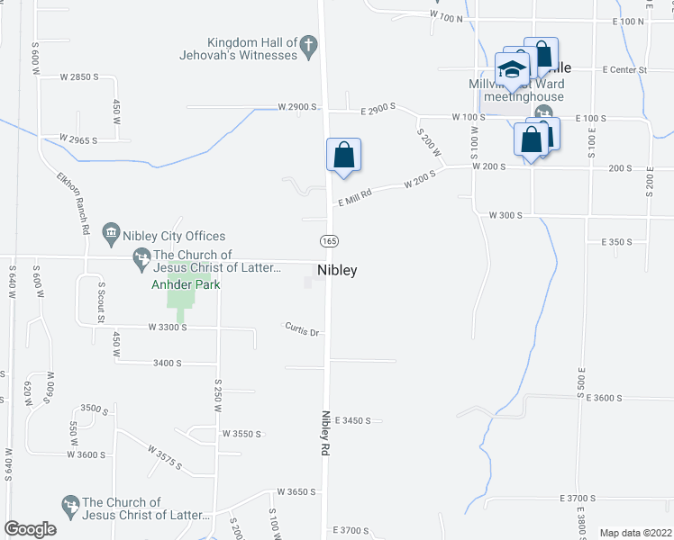 map of restaurants, bars, coffee shops, grocery stores, and more near in Nibley