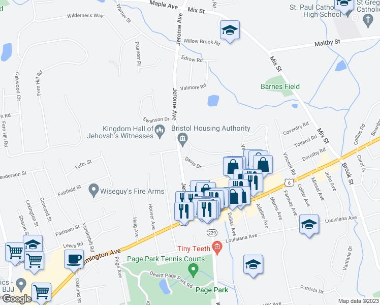 1 Quaker Lane, Bristol CT - Walk Score