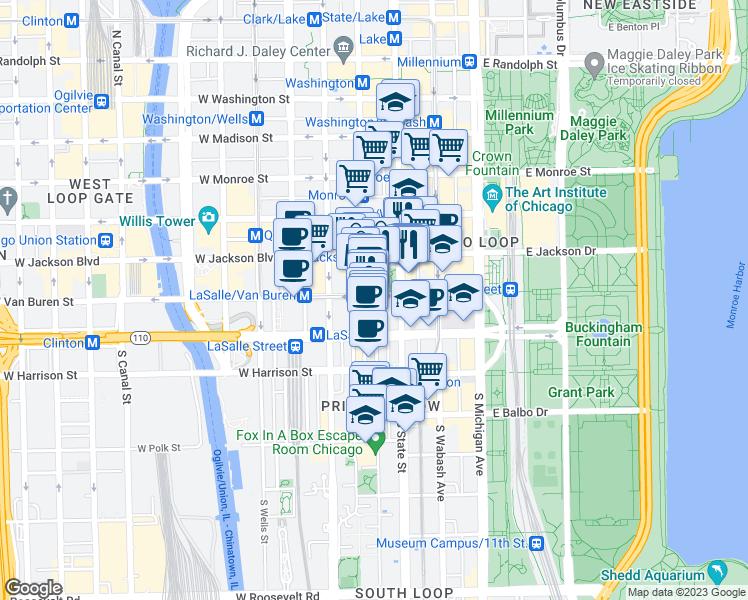 City Colleges Of Chicago Map.31 West Van Buren Street Chicago Il Walk Score