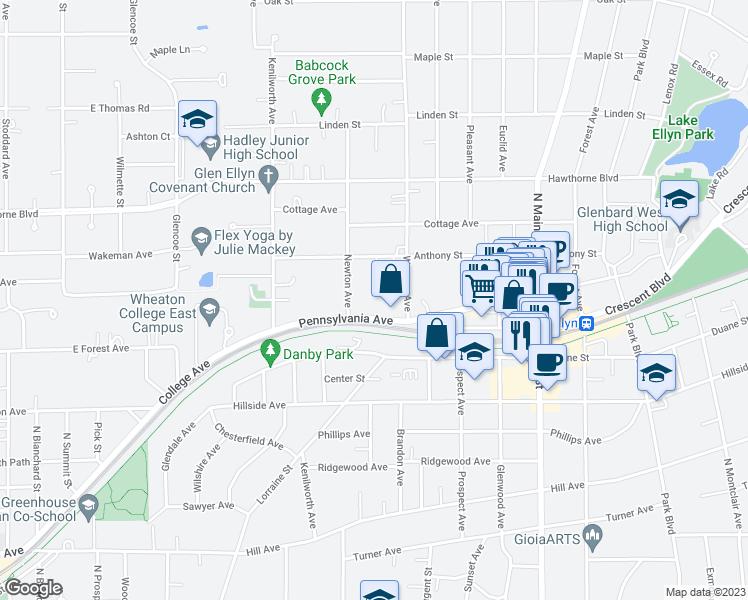 Glen Ellen Illinois Map.382 Pennsylvania Ave Glen Ellyn Il Walk Score
