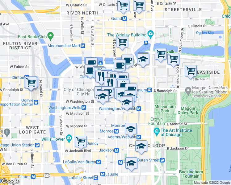 Map Of Restaurants Bars Coffee S Grocery Ore Near 125