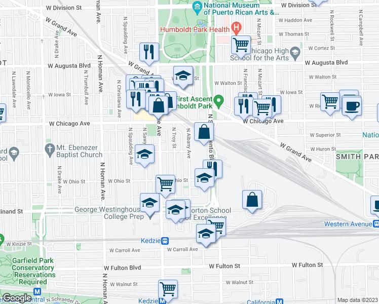 Garfield Park Chicago Map.East Garfield Park Chicago Il Walk Score