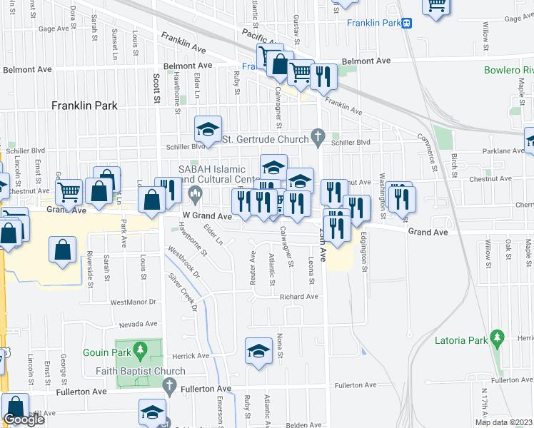 Franklin Park Illinois Map.9718 W Grand Ave Franklin Park Il Walk Score