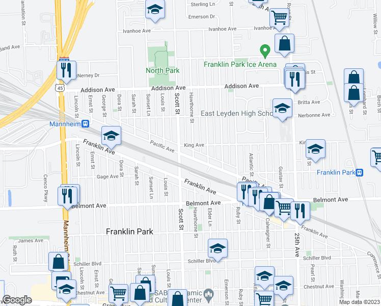 Franklin Park Illinois Map.9930 Pacific Avenue Franklin Park Il Walk Score