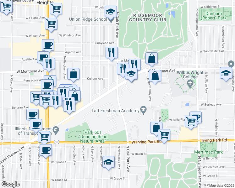 Oak Park Chicago Map.4255 North Oak Park Avenue Chicago Il Walk Score