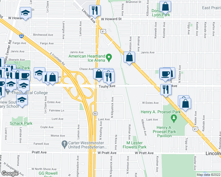 Map Of Restaurants Bars Coffee Shops Grocery Stores And More Near 4711