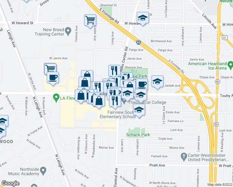 Map Of Restaurants Bars Coffee Shops Grocery Stores And More Near 5360
