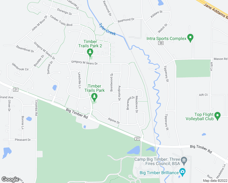 map of restaurants, bars, coffee shops, grocery stores, and more near 41 Brentwood Drive in Gilberts