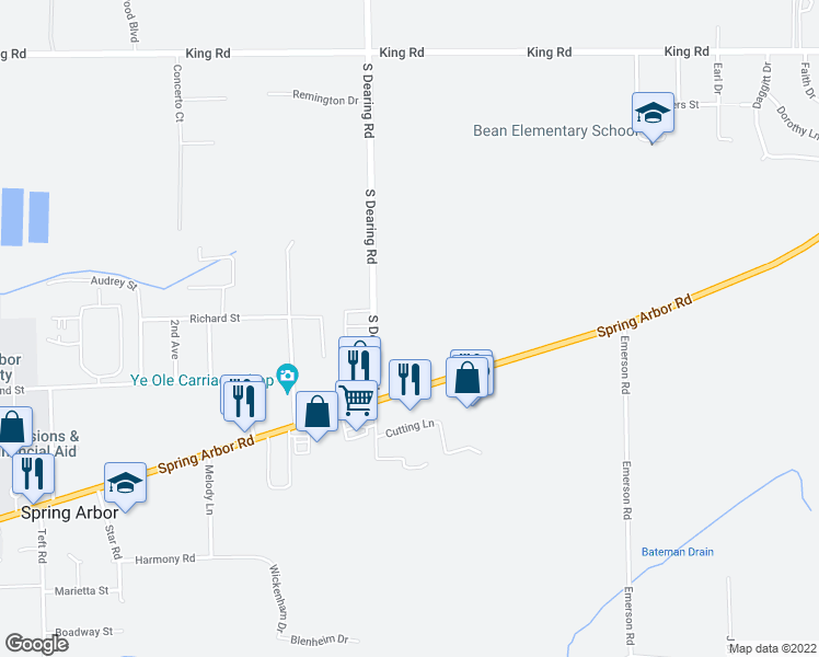 Spring Arbor Michigan Map.3401 South Dearing Road Spring Arbor Mi Walk Score
