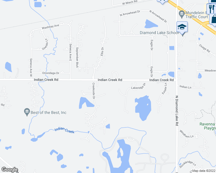 map of restaurants, bars, coffee shops, grocery stores, and more near 6759 Tribal Court in Long Grove
