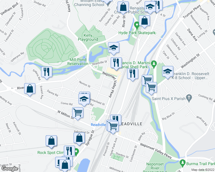 map of restaurants, bars, coffee shops, grocery stores, and more near 13 Albemarle Street in Boston