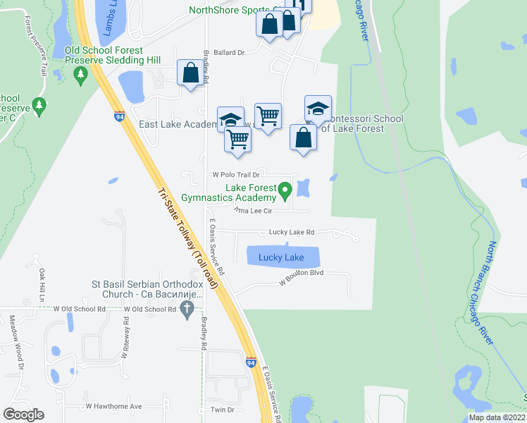 map of restaurants, bars, coffee shops, grocery stores, and more near 27845 Irma Lee Circle in Lake Forest