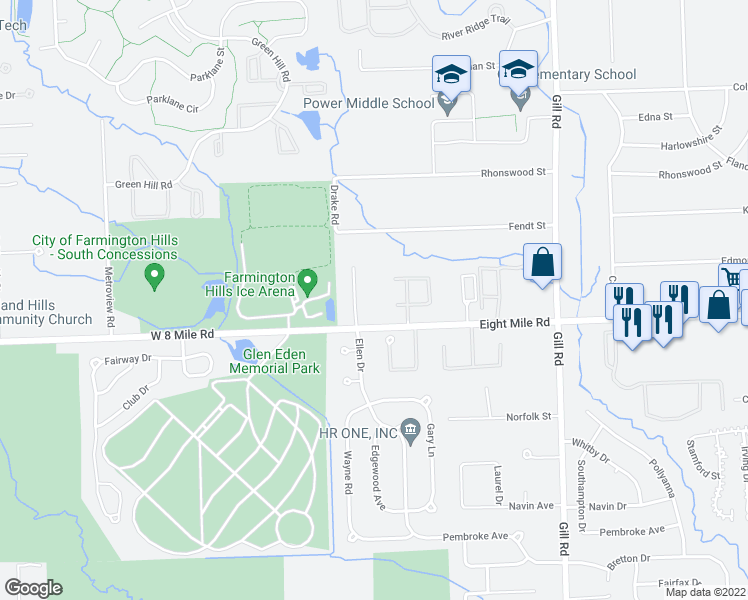 Farmington Hills Michigan Map.35258 Eight Mile Road Farmington Hills Mi Walk Score