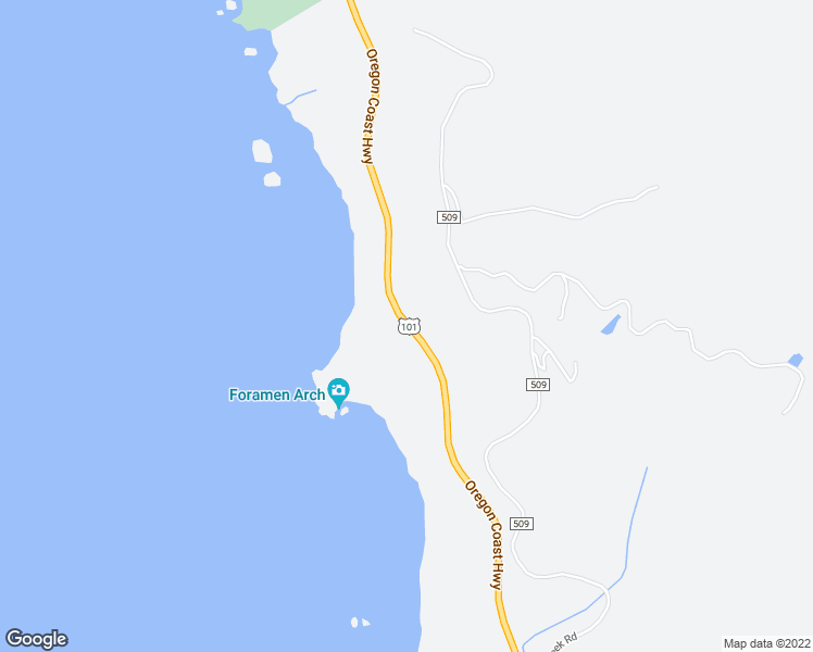 map of restaurants, bars, coffee shops, grocery stores, and more near 36044 U.S. 101 in Gold Beach