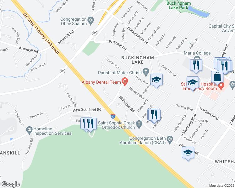 New Scotland Ave & Whitehall Rd, Albany NY - Walk Score