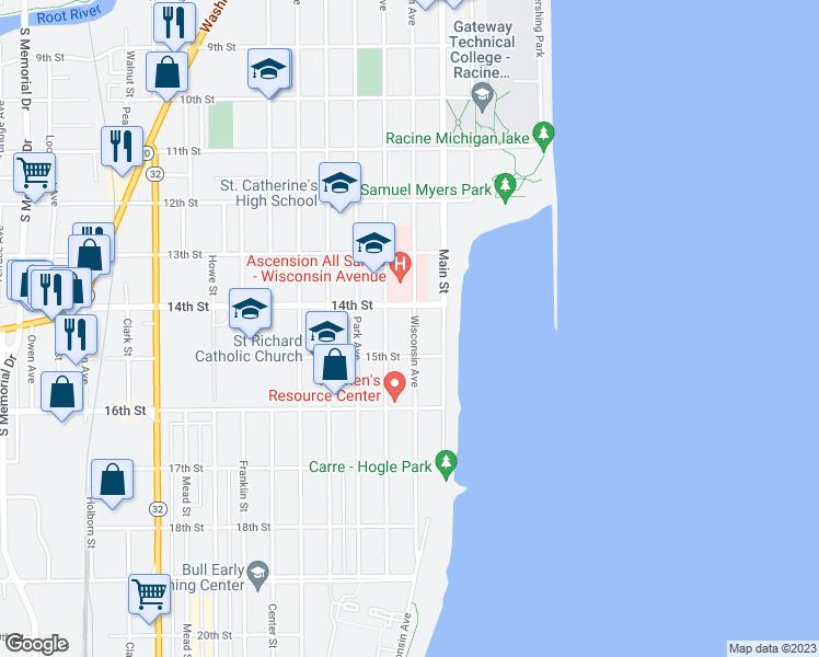 Racine Wisconsin Map.1422 Wisconsin Avenue Racine Wi Walk Score