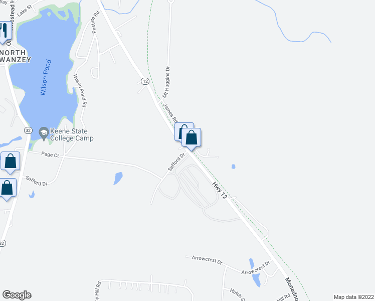 map of restaurants, bars, coffee shops, grocery stores, and more near 233 Monadnock Highway in Swanzey