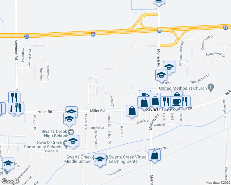 map of restaurants, bars, coffee shops, grocery stores, and more near 13505 North Haggerty Road in Plymouth