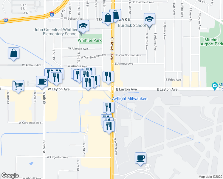 Downtown Milwaukee Hotels Map on