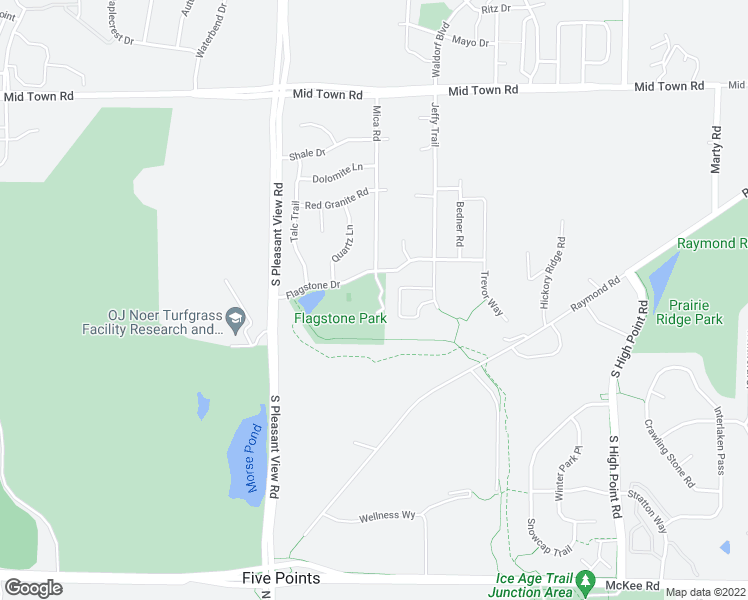map of restaurants, bars, coffee shops, grocery stores, and more near 8301 Flagstone Drive in Madison