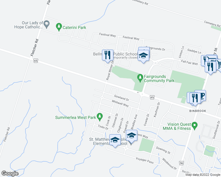 map of restaurants, bars, coffee shops, grocery stores, and more near 48 Lynch Crescent in Hamilton