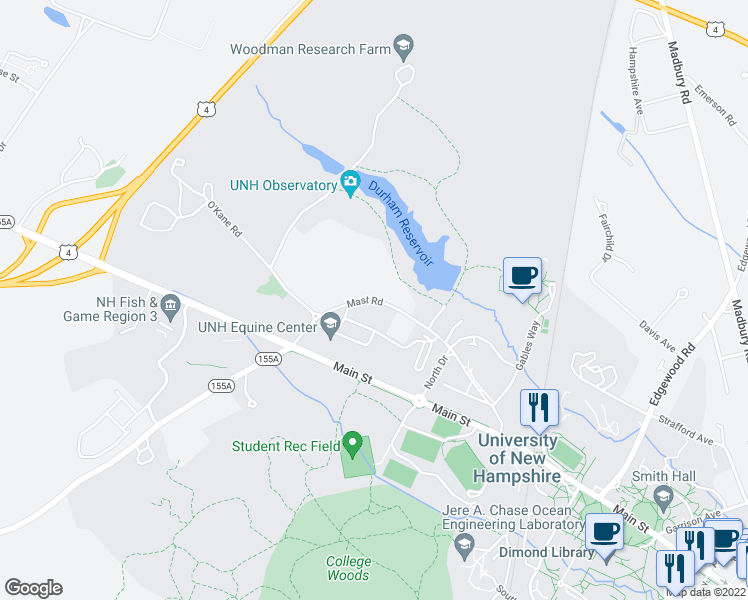 Mast Road Extension Durham Nh Walk Score