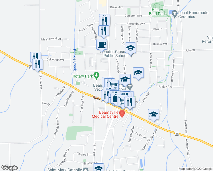 map of restaurants, bars, coffee shops, grocery stores, and more near 5005 Serena Drive in Lincoln