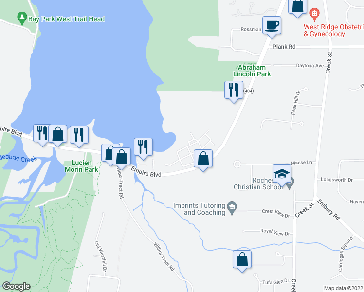 map of restaurants, bars, coffee shops, grocery stores, and more near 600 Starboard Side Lane in Webster