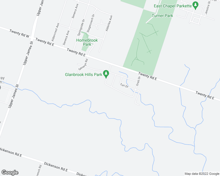 map of restaurants, bars, coffee shops, grocery stores, and more near 179 Greti Drive in Hamilton