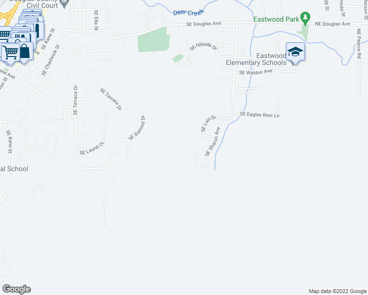 map of restaurants, bars, coffee shops, grocery stores, and more near 928 Southeast Golden Eagle Avenue in Roseburg