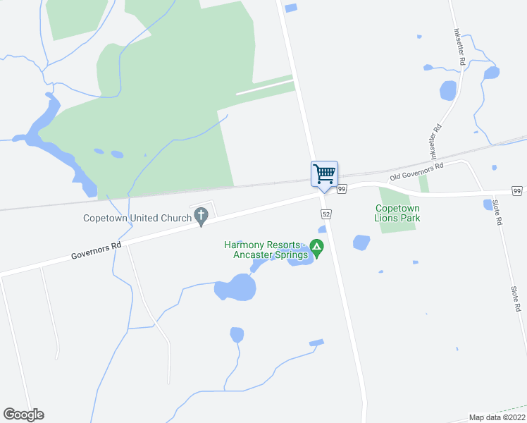 map of restaurants, bars, coffee shops, grocery stores, and more near 2122 Governors Road in Hamilton