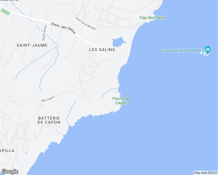 map of restaurants, bars, coffee shops, grocery stores, and more near 39 Les Salins in Saint-Tropez