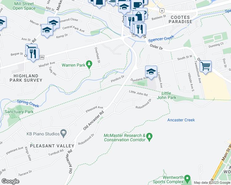 110 Old Ancaster Road, Hamilton ON - Walk Score