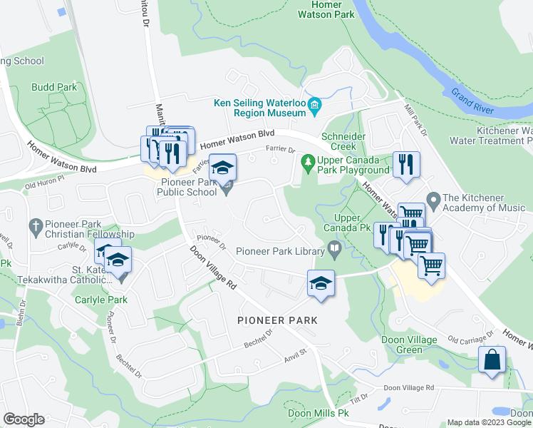 Map Of Canada Kitchener.12 Upper Canada Place Kitchener On Walk Score