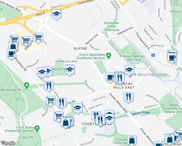 274 Kingswood Drive, Kitchener ON - Walk Score