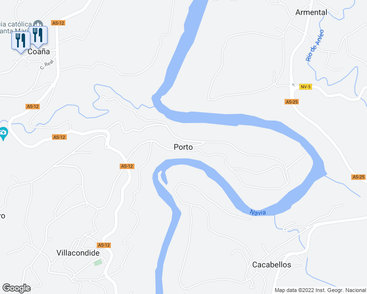 map of restaurants, bars, coffee shops, grocery stores, and more near 74A Lugar Porto in Porto