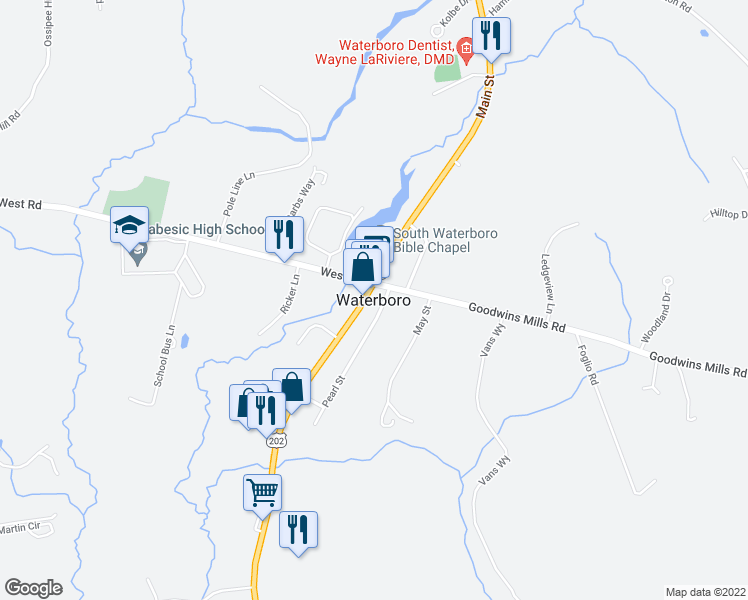 Waterboro ME - Walk Score on map of north waterboro maine, map of middleton nh, map of wolfeboro nh, map of nottingham nh, map of dover nh, map of new boston nh, map of nashua nh, map of epping nh, map of ossipee nh, map of north andover ma, map of deerfield nh, map of raymond nh, map of merrimack nh, map of hudson nh, map of lebanon nh, map of newport nh, map of hampstead nh, map of concord nh, map of rochester nh, map of londonderry nh,