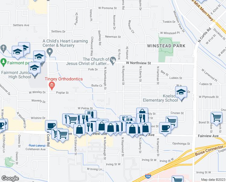 6728 Poplar Street, Boise City ID - Walk Score