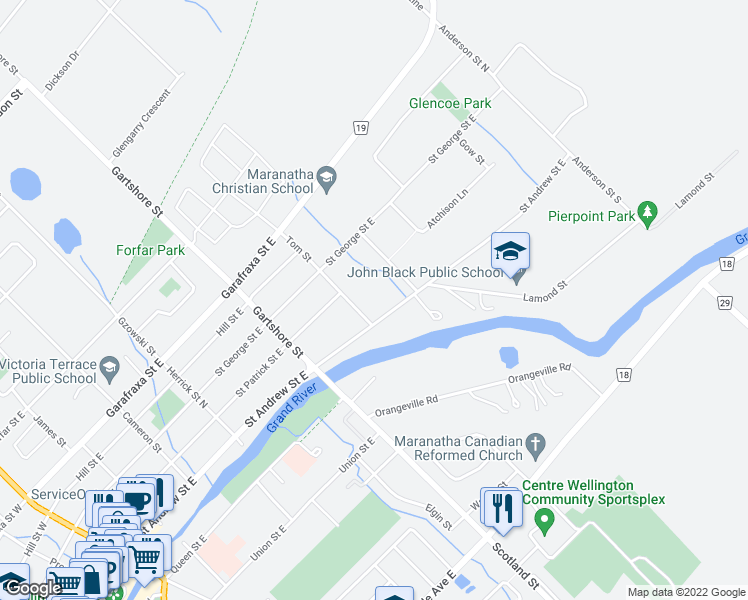 Fergus (ON) Canada  city images : 140 Tom Street, Fergus ON Walk Score
