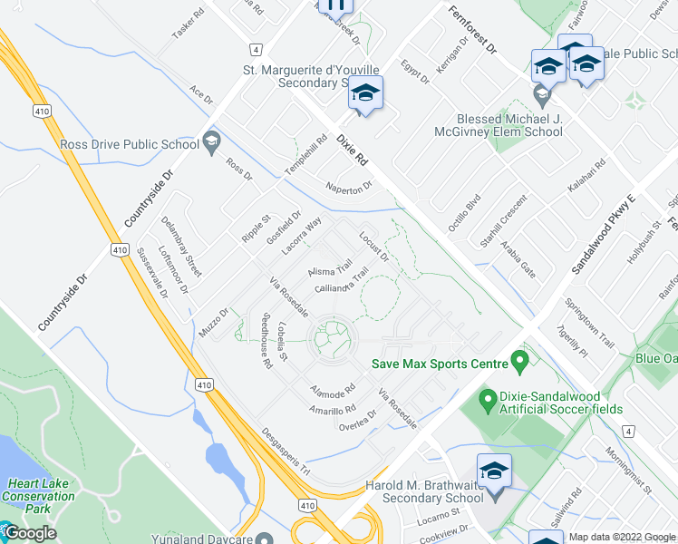 Brampton Canada Map.Alisma Trail Brampton On Walk Score