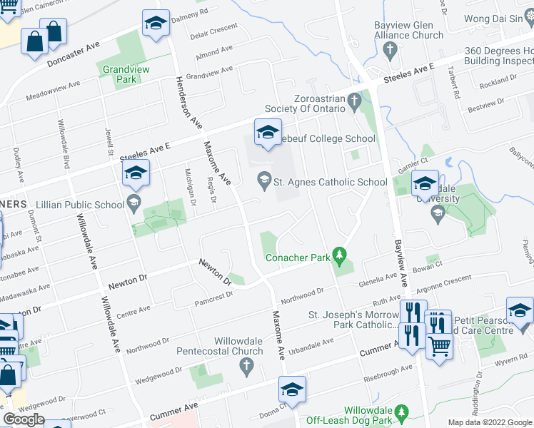 Map Of Restaurants Bars Coffee S Grocery Ore Near 54