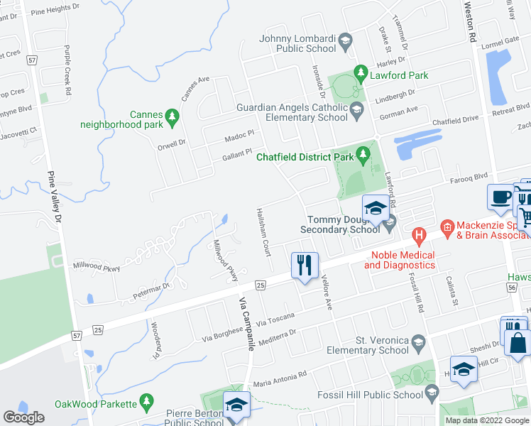 Map Of Restaurants Bars Coffee Shops Grocery Stores And More Near 69